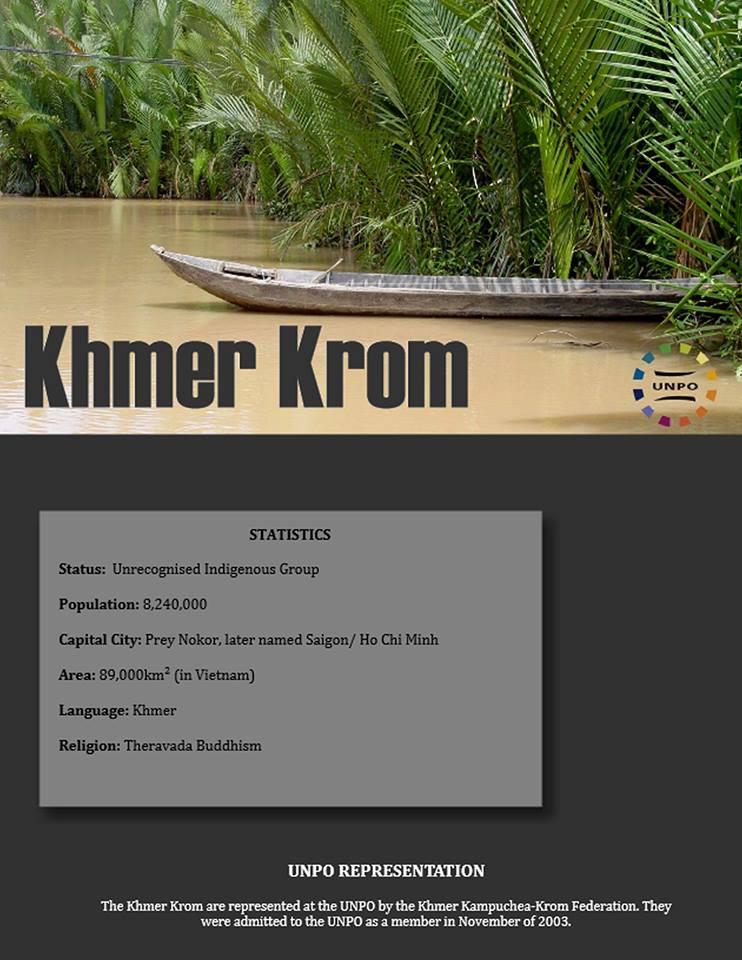 Lịch Sử Khmer Krom phát hành bởi UNPO