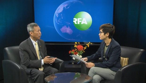 Ông Trần Mannrinh, Trưởng ban Kế hoạch Liên đoàn Khmer Krom trong buổi phỏng vấn với RFA.